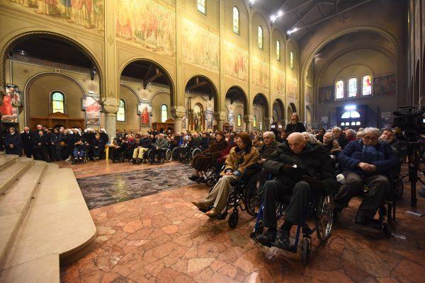 Giornata del Malato, Messa con l'Arcivescovo in Santa Maria di Lourdes