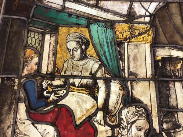 Nel Duomo di Milano la quattrocentesca vetrata di san Giovanni Damasceno restaurata