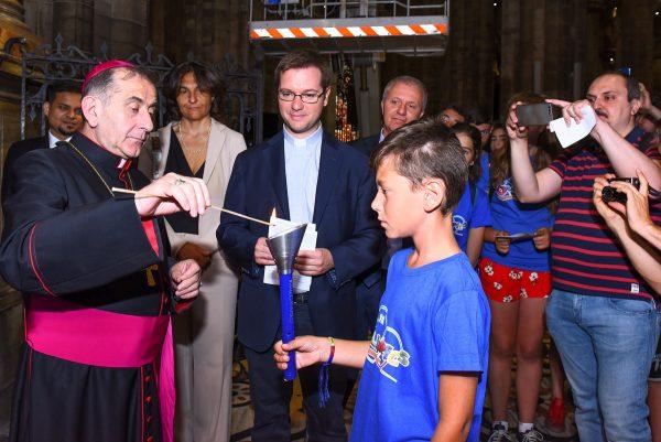 Oralimpics, l'Arcivescovo accende la fiaccola